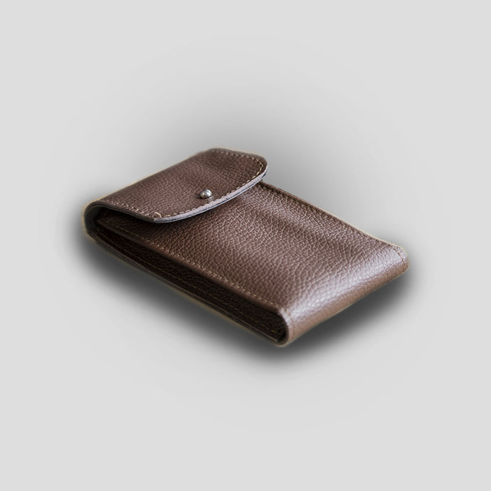 Enoksen Deerskin Single Leather Pouch - Brown