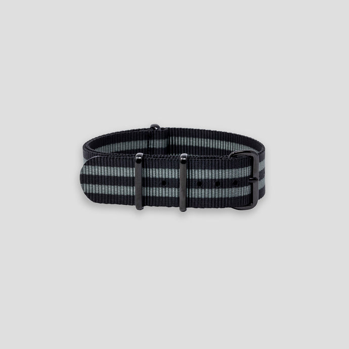 Enoksen G10 NATO Nylon Watch Strap (20mm) - Black & Grey
