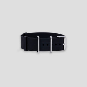 Enoksen G10 NATO Silicone Rubber Watch Strap (20mm) - Black