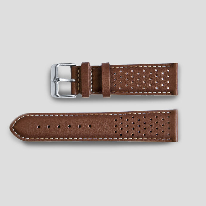 Enoksen Classic Leather Watch Strap - Brown (22mm)