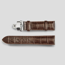 Enoksen Crocodile Watch Strap (20mm) Brown / Black