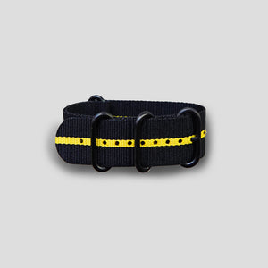 Alexandra Cousteau x Enoksen G10 NATO Nylon Strap (24mm) - Yellow & Black