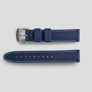 Enoksen Two Piece Retro Rubber Strap - Blue (20mm)