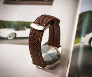 Enoksen Two Piece Retro Rubber Strap - Brown (20mm)