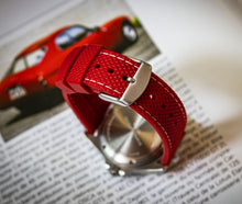 Enoksen Two Piece Retro Rubber Strap - Red (20mm)