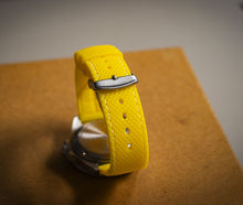 Enoksen Two Piece Retro Rubber Strap - Yellow (20mm)