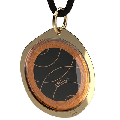 Q-Link Gold Pebble SRT-3 Pendant (Polished)