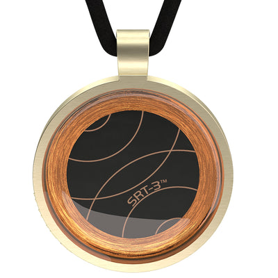 Q-Link Gold Retro SRT-3 Pendant (Brushed)