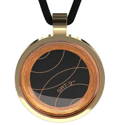 Q-Link Gold Retro SRT-3 Pendant (Polished)