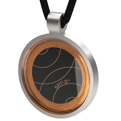Q-Link Silver Retro SRT-3 Pendant (Brushed)
