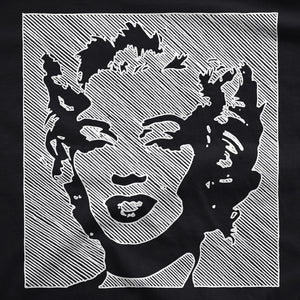 Marilyn - White Line - Mens T-Shirt