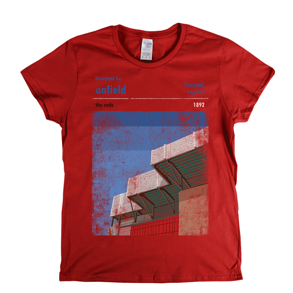 Anfield The Reds Poster Womens T-Shirt