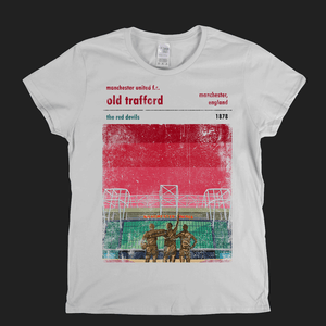 Old Trafford The Red Devils Poster Womens T-Shirt
