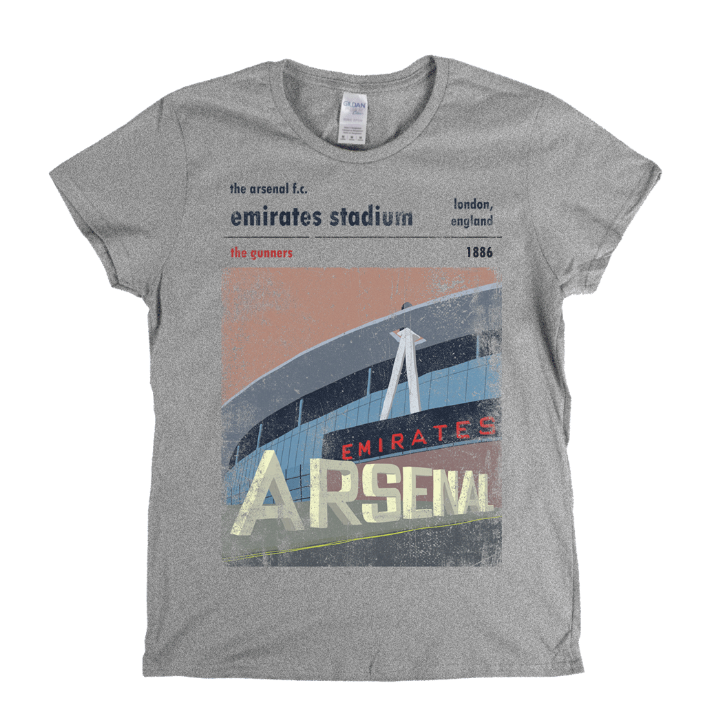 Emirates Stadium The Gunners Poster Womens T-Shirt