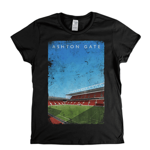 Ashton Gate Football Ground Poster Womens T-Shirt