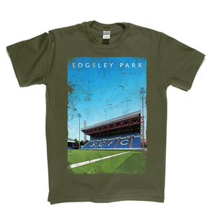 Edgeley Park Football Ground Poster Regular T-Shirt