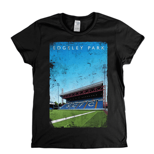 Edgeley Park Football Ground Poster Womens T-Shirt