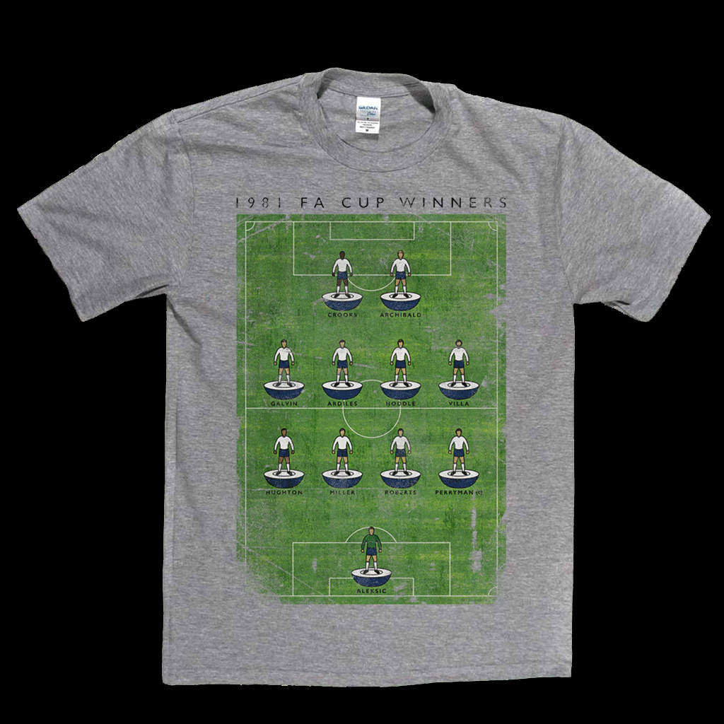 Spurs 1981 FA Cup Poster Regular T-Shirt