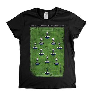 Spurs 1961 Double Winners Poster Womens T-Shirt
