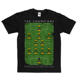 Norwich City Championship Champions 2019 Poster Regular T-Shirt