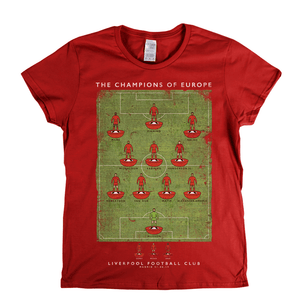 Liverpool European Champions 2019 Womens T-Shirt