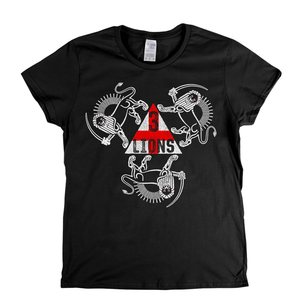 3 Lions With Sword Womens T-Shirt