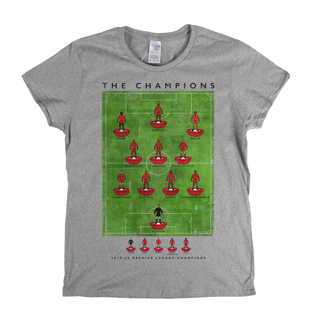 Liverpool 2019-20 Premier League Champions Womens T-Shirt