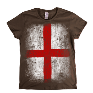 Big England Flag Womens T-Shirt