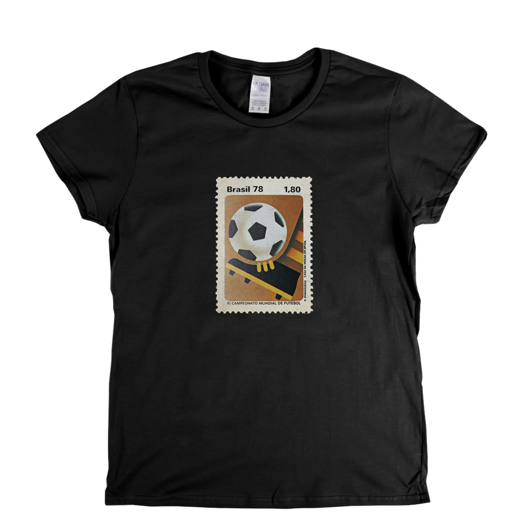 Brazil 78 Boot Stamp Womens T-Shirt