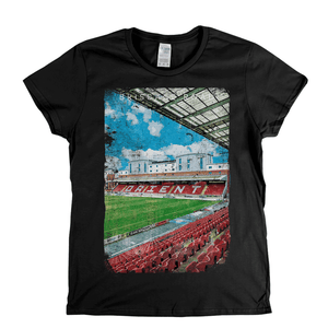 Brisbane Road Football Ground Poster Womens T-Shirt
