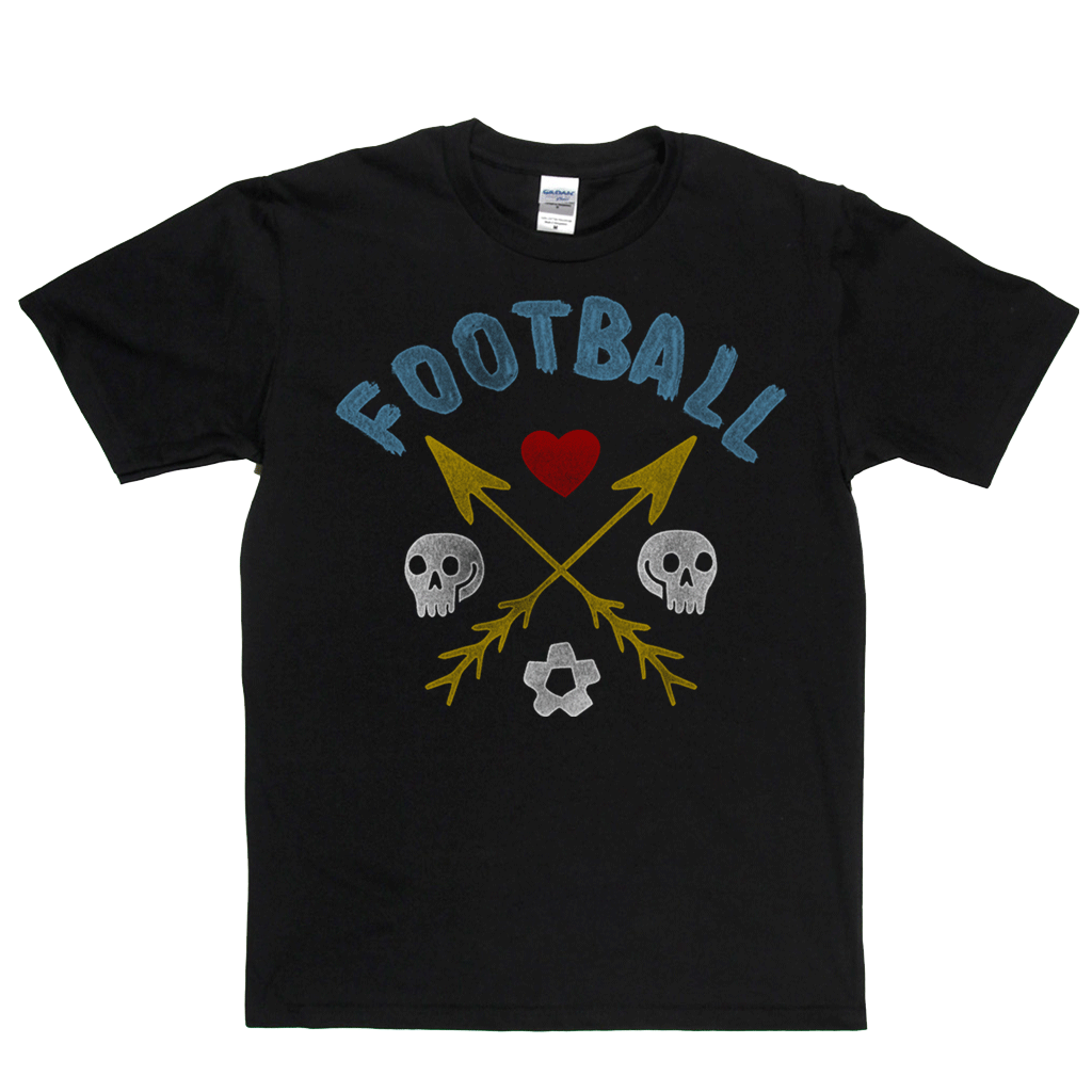 Crossed Arrows Love Football Regular T-Shirt