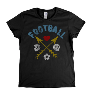 Crossed Arrows Love Football Womens T-Shirt