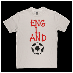 England Soccer Spraypaint Regular T-Shirt
