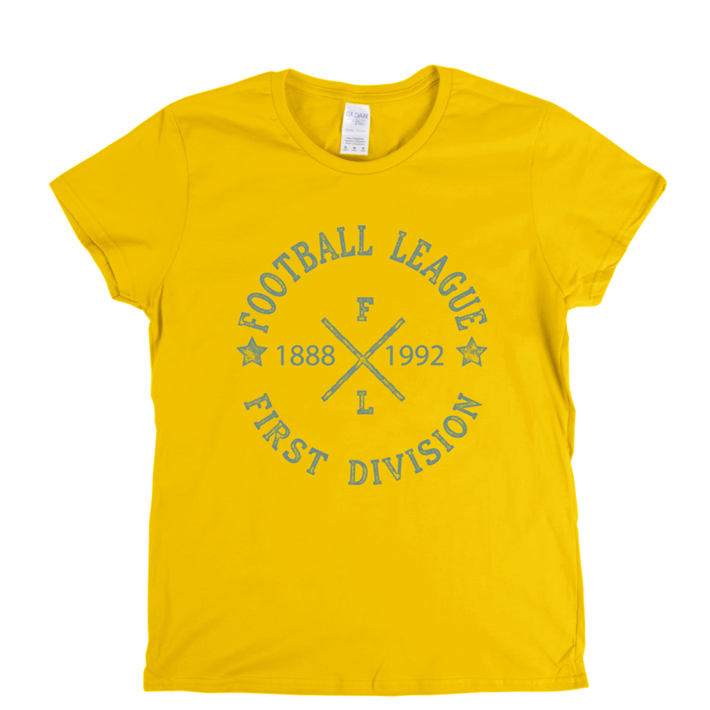 Football League First Division 1888 1992 Womens T-Shirt