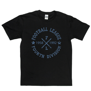 Football League Fourth Division 1958 1992 Regular T-Shirt