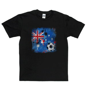 Grunge Australian Flag Spraypaint Regular T-Shirt