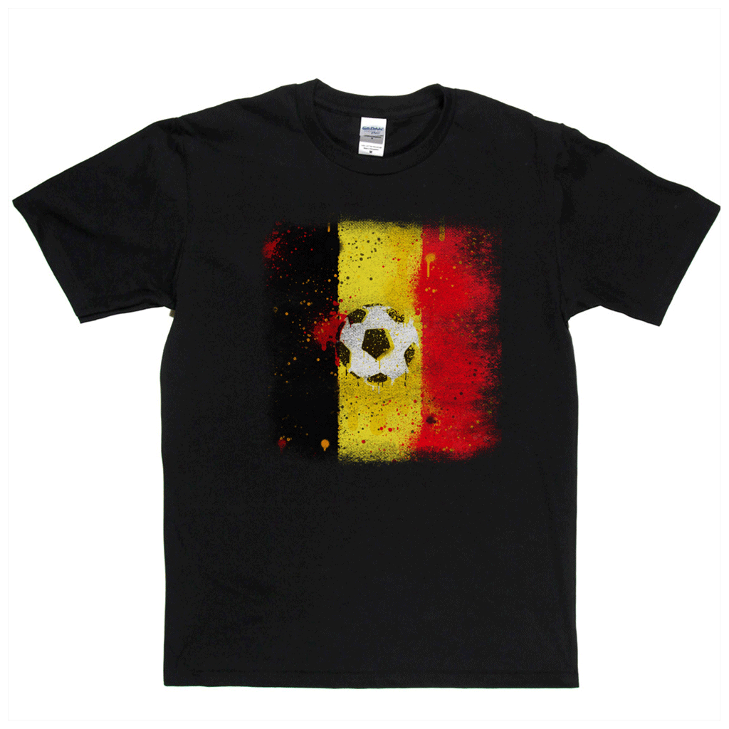 Grunge Belgium Flag Spraypaint Regular T-Shirt