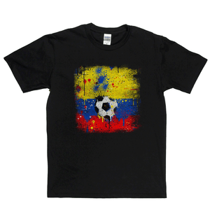 Grunge Columbia Flag Spraypaint Regular T-Shirt
