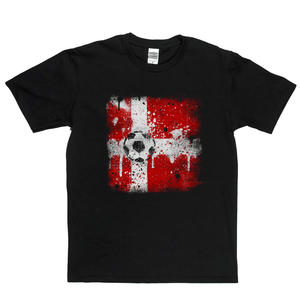 Grunge Denmark Flag Spraypaint Regular T-Shirt
