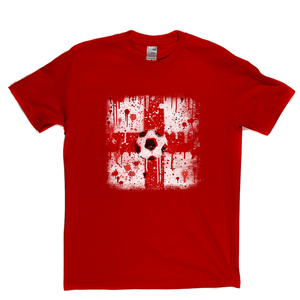 Grunge England Flag Spraypaint Regular T-Shirt