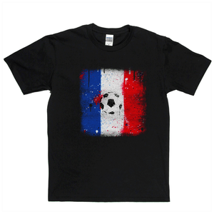 Grunge France Flag Spraypaint Regular T-Shirt