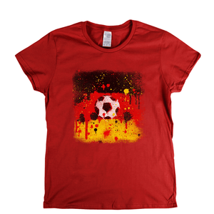 Grunge German Flag Spraypaint Womens T-Shirt