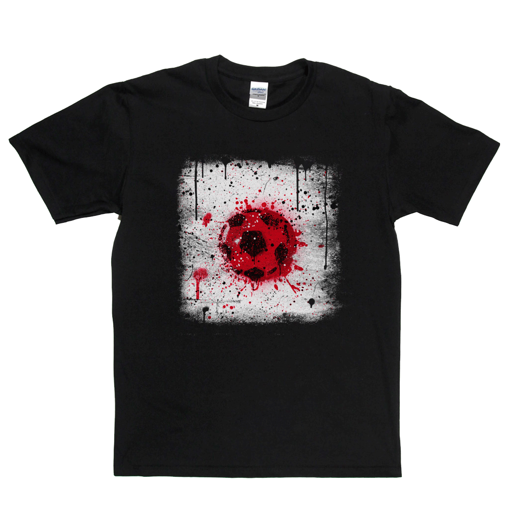 Grunge Japan Flag Spraypaint Regular T-Shirt