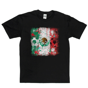 Grunge Mexico Flag Spraypaint Regular T-Shirt