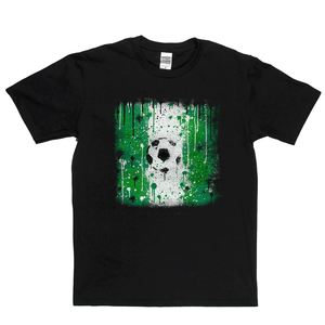 Grunge Nigeria Flag Spraypaint Regular T-Shirt