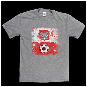 Grunge Poland Flag Spraypaint Regular T-Shirt