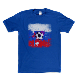 Grunge Russian Flag Spraypaint Regular T-Shirt