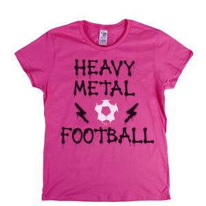 Heavy Metal Football Spraypaint Womens T-Shirt