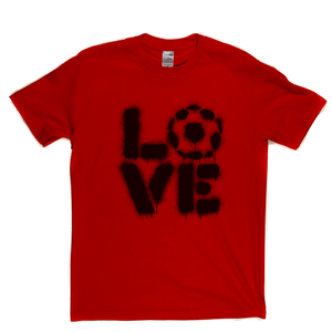 Love Football Stencil Spraypaint Regular T-Shirt