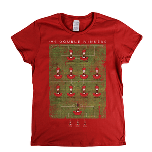 Man United 94 Double Winners Womens T-Shirt